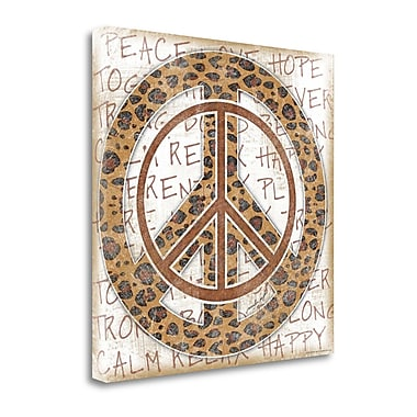 Tangletown Fine Art 'Peace Leopard' Graphic Art Print on Wrapped Canvas; 24'' H x 24'' W