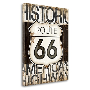 Tangletown Fine Art 'Route 66' Textual Art on Canvas; 24'' H x 20'' W