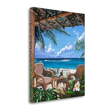 Tangletown Fine Art 'Paradise Porch' Graphic Art Print on Wrapped Canvas; 21'' H x 18'' W