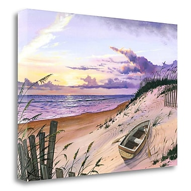 Tangletown Fine Art 'Pastel Point' Graphic Art Print on Wrapped Canvas; 30'' H x 42'' W