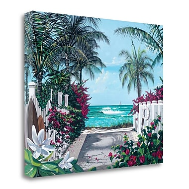 Tangletown Fine Art 'Pathway to Paradise' Graphic Art Print on Wrapped Canvas; 18'' H x 22'' W
