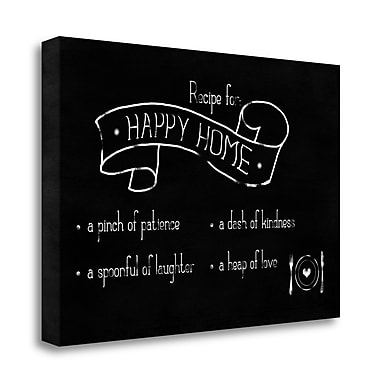 Tangletown Fine Art 'Recipe for Happy Home' Textual Art on Canvas; 19'' H x 27'' W