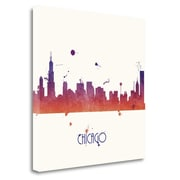 Tangletown Fine Art 'Sunset Chicago - Square' by Anna Quach Graphic Art on Wrapped Canvas