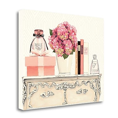 Tangletown Fine Art 'Parfum Chic II' Graphic Art Print on Wrapped Canvas; 22'' H x 28'' W