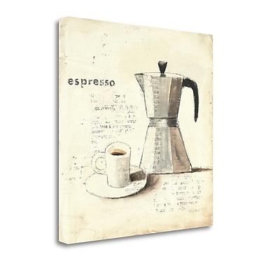 Tangletown Fine Art 'Parisian Coffee II' Graphic Art Print on Wrapped Canvas; 24'' H x 24'' W