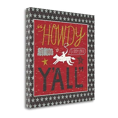 Tangletown Fine Art 'Southern Pride Howdy Yall' Textual Art on Canvas; 24'' H x 24'' W