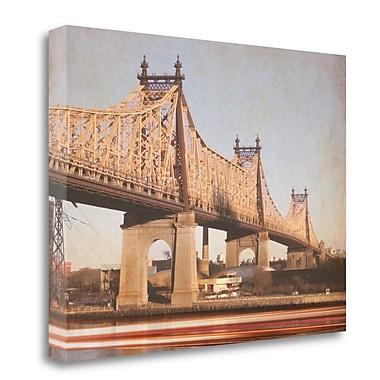 Tangletown Fine Art 'Queensborough Bridge' Graphic Art Print on Canvas; 35'' H x 45'' W