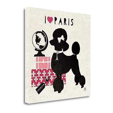 Tangletown Fine Art 'Paris Pooch' Graphic Art Print on Wrapped Canvas; 20'' H x 20'' W