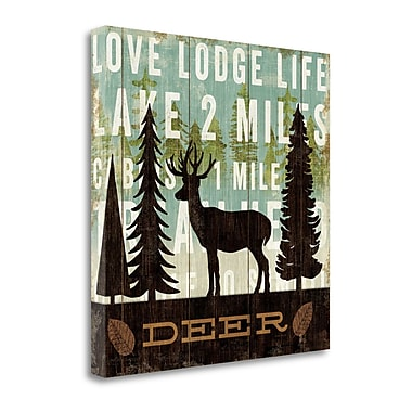 Tangletown Fine Art 'Simple Living Deer' Graphic Art Print on Canvas; 24'' H x 24'' W