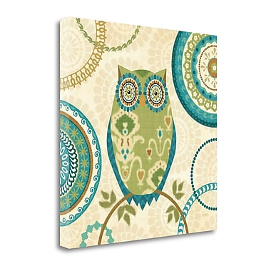 Tangletown Fine Art 'Owl Forest I' Graphic Art Print on Wrapped Canvas; 24'' H x 24'' W