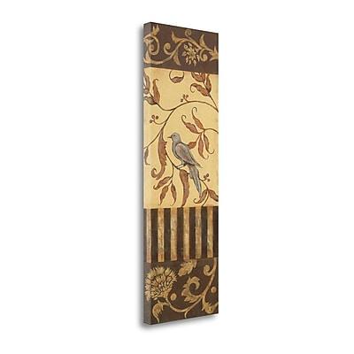 Tangletown Fine Art 'Song Bird II' Graphic Art Print on Canvas; 39'' H x 13'' W