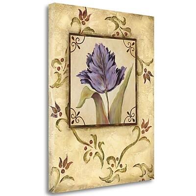 Tangletown Fine Art 'Purple Tulip' Graphic Art Print on Canvas; 20'' H x 16'' W