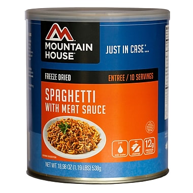 Mountain House Spaghetti with Meat Sauce #10 Can