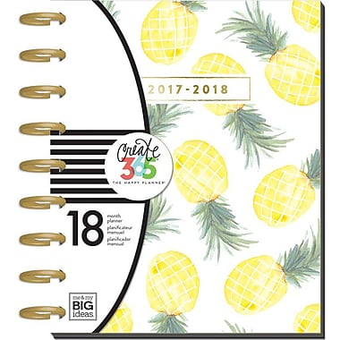 The Happy Planner® - Classic 18 Month, Dated July 2017-December 2018 - Pineapples