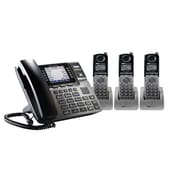 Unison 4 Phone Small Office Bundle - Includes 1 Desk Phone and 3 Cordless Handsets