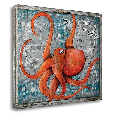 Tangletown Fine Art 'Octopus' Graphic Art on Canvas; 20'' H x 26'' W