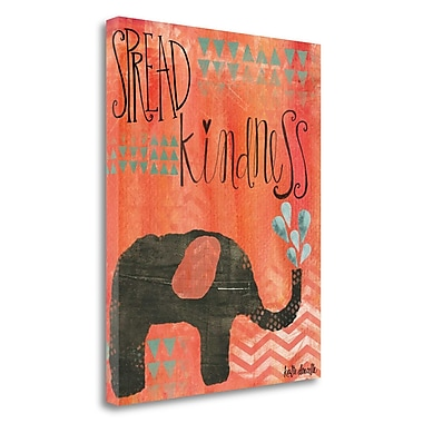 Tangletown Fine Art 'Kindness Elephant' Textual Art on Canvas; 32'' H x 26'' W