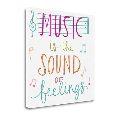 Tangletown Fine Art 'Music is the Sound of Feelings' Textual Art on Canvas; 30'' H x 30'' W