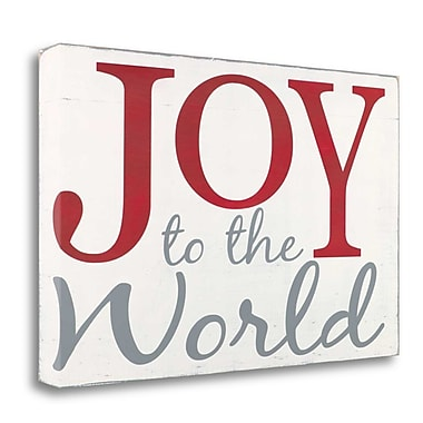 Tangletown Fine Art 'Joy to the World' Textual Art on Canvas; 21'' H x 33'' W