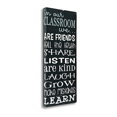 Tangletown Fine Art 'In Our Classroom' Textual Art on Canvas; 39'' H x 19'' W