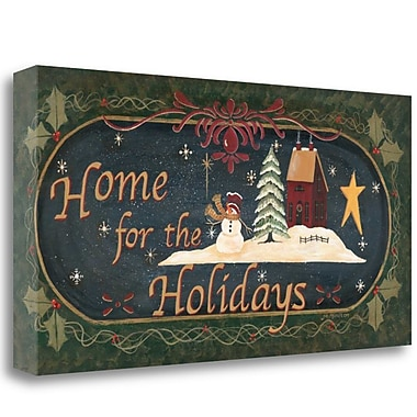 Tangletown Fine Art 'Home for Holidays' Graphic Art Print on Canvas; 20'' H x 39'' W