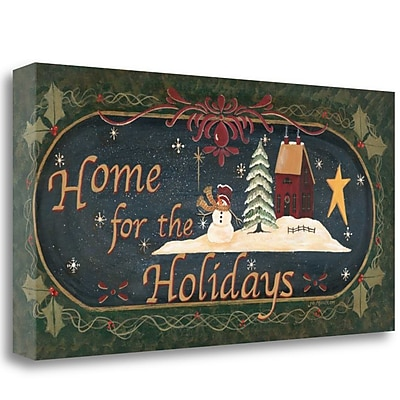 Tangletown Fine Art 'Home for Holidays' Graphic Art Print on Canvas; 25'' H x 48'' W