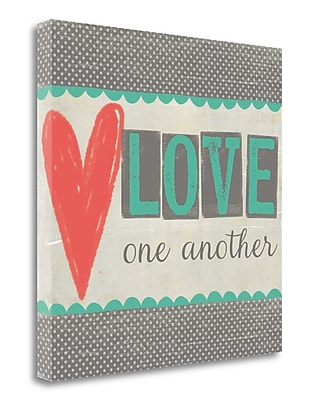 Tangletown Fine Art 'Love One Another' Textual Art on Canvas; 26'' H x 26'' W
