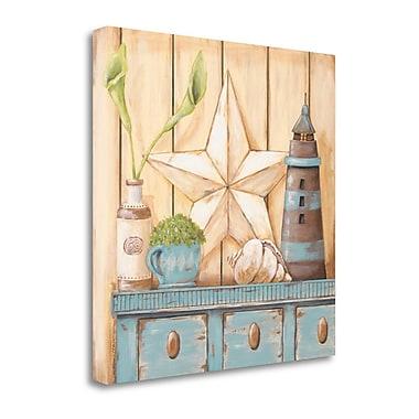 Tangletown Fine Art 'Coastal Cupboard I' Print on Canvas; 26'' H x 26'' W