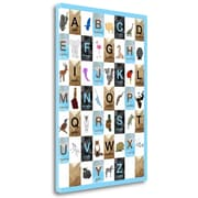 Tangletown Fine Art 'Alphabet - Boys' Graphic Art Print on Wrapped Canvas; 48'' H x 33'' W