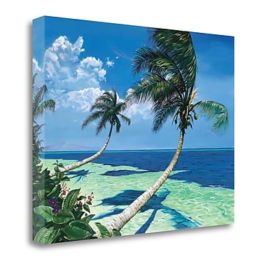 Tangletown Fine Art 'Beckoning Palms' Print on Wrapped Canvas; 35'' H x 47'' W