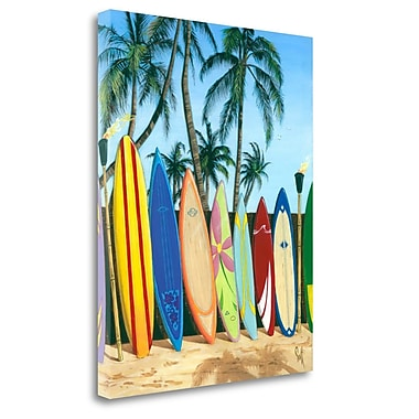 Tangletown Fine Art 'Bunch of Boards' Graphic Art Print on Canvas; 32'' H x 26'' W