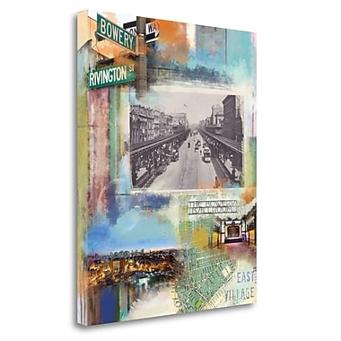 Tangletown Fine Art 'Bowery Collage' Graphic Art Print on Canvas; 35'' H x 28'' W