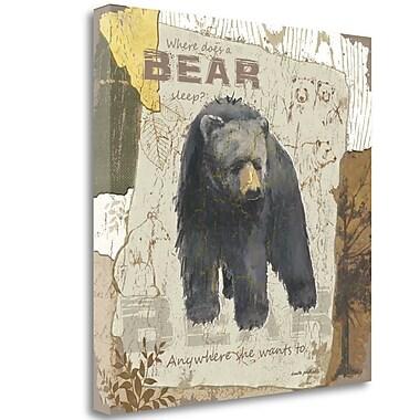 Tangletown Fine Art 'Bear Sleep' Graphic Art Print on Wrapped Canvas; 26'' H x 26'' W