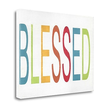 Tangletown Fine Art 'Blessed' Textual Art on Wrapped Canvas; 25'' H x 32'' W