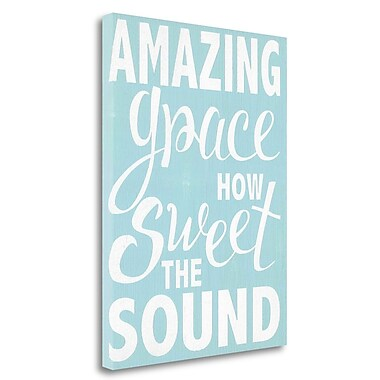 Tangletown Fine Art 'Amazing Grace' Textual Art on Wrapped Canvas; 24'' H x 33'' W