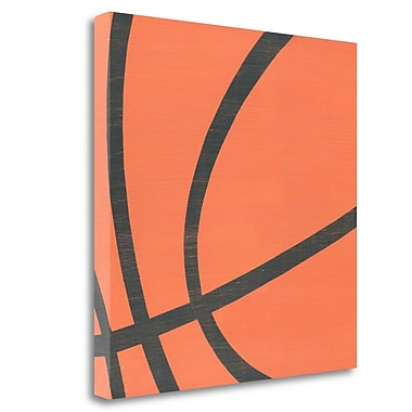 Tangletown Fine Art 'Basketball' Graphic Art Print on Wrapped Canvas; 35'' H x 35'' W