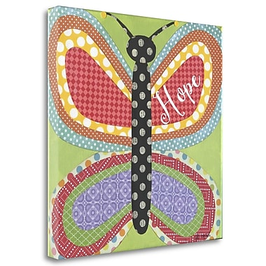 Tangletown Fine Art 'Butterfly w/ Words' Graphic Art Print on Canvas; 25'' H x 25'' W