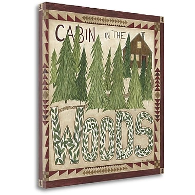 Tangletown Fine Art 'Cabin in the Woods' Graphic Art Print on Canvas; 20'' H x 20'' W