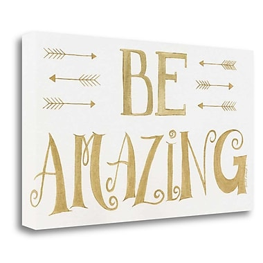 Tangletown Fine Art 'Be Amazing' Textual Art on Wrapped Canvas; 22'' H x 39'' W