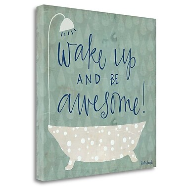 Tangletown Fine Art 'Be Awesome Bath' Textual Art on Wrapped Canvas; 30'' H x 30'' W