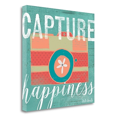 Tangletown Fine Art 'Capture Happiness' Textual Art on Canvas; 30'' H x 30'' W