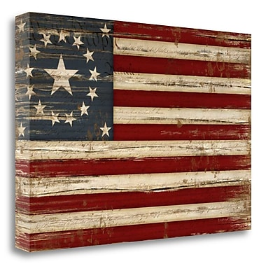 Tangletown Fine Art 'American Flag' Graphic Art Print on Canvas; 32'' H x 48'' W