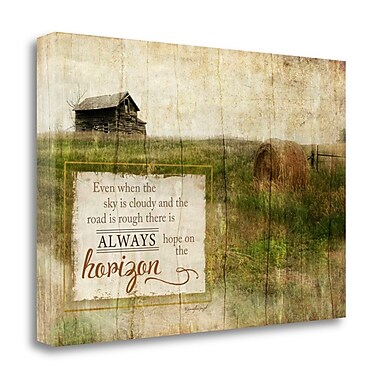 Tangletown Fine Art 'Always Hope' Graphic Art Print on Wrapped Canvas; 32'' H x 48'' W