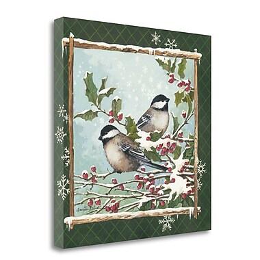 Tangletown Fine Art 'Winter Chickadees' Graphic Art Print on Canvas; 29'' H x 29'' W