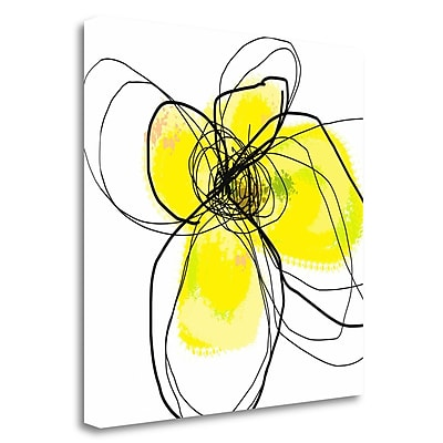 Tangletown Fine Art 'Yellow Petals Three' Print on Canvas; 30'' H x 30'' W