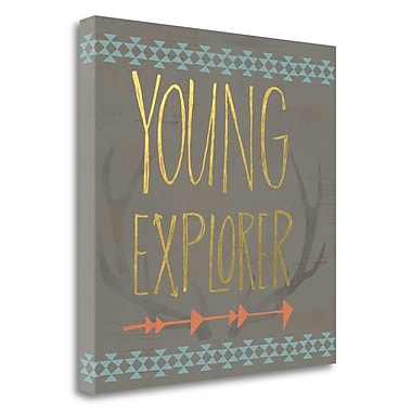 Tangletown Fine Art 'Young Explorer' Textual Art on Canvas; 26'' H x 26'' W