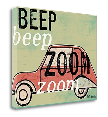 Tangletown Fine Art 'Zoom Zoom' Graphic Art Print on Wrapped Canvas; 32'' H x 40'' W