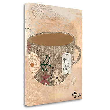 Tangletown Fine Art 'You, Me and Tea' Graphic Art Print on Canvas; 24'' H x 20'' W