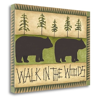 Tangletown Fine Art 'Walk in the Woods' Graphic Art Print on Canvas; 20'' H x 26'' W