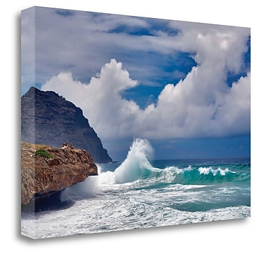 Tangletown Fine Art 'Wave Hello' Photographic Print on Canvas; 17'' H x 26'' W